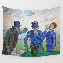 The Drinkers by Vincent van Gogh (1890) Wall Tapestry