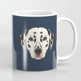 Dalmatian // Navy Coffee Mug