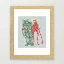 Alien & Astronaut Framed Art Print