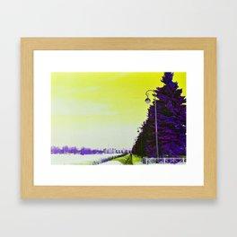 Winter psychedelic 2 Framed Art Print