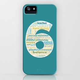 Life Path 6 (color background) iPhone Case