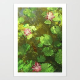 Acting Koi Art Print