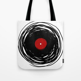 Spinning within with a vinyl record... Tote Bag
