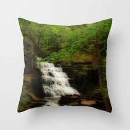 Tranquil Flow Throw Pillow