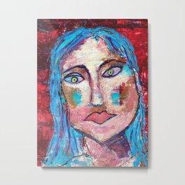 Meet Paula, an intriguing face Metal Print