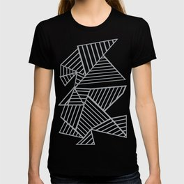 Abstraction Lines Zoom Grey T-shirt