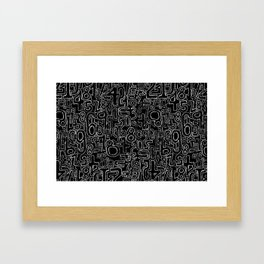 Sketched Numbers Framed Art Print