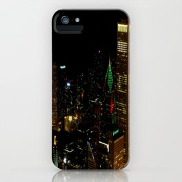 A Christmas Skyline in Chicago (Chicago Christmas/Holiday Collection) iPhone Case