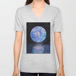 Full Moon Reflections Unisex V-Neck