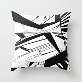 History of Art in Black and White. Futurism Throw Pillow