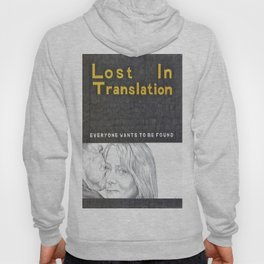 LOST IN TRANSLATION hand drawn movie poster in pencil Hoody