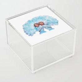 Sisters - White Christmas - Watercolor Acrylic Box