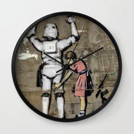 Girl and Clone   Tony Leone - Art Wars series Wall Clock