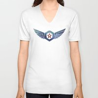 pacific rim V-neck T-shirts featuring Pacific Rim Gipsy Danger by foreverwars