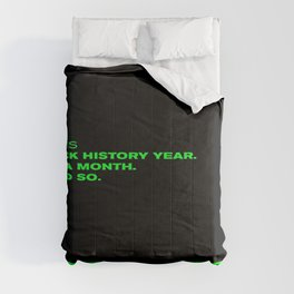 P. Diddy - Puff Daddy - Sean Combs Instagram Post 2/1/21 - Black History Month - Year Statement 4366 Comforters