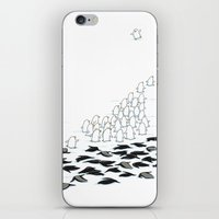 suit iPhone & iPod Skins featuring suit down by Ingrid Aspöck