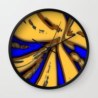 drum Wall Clocks featuring Caramel Drum by Stars Live Forever