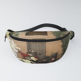 The leaves of an alley in Bologna, Italy Fanny Pack