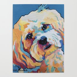 Maltipoo, Cavapoo, Cavachon, Cockerpoo, Mix Breed Custom Pop Art Pet Portrait Poster