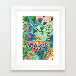Jungle Leopard Family Framed Art Print
