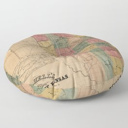 Mitchell's Sectional Map of Kansas (1859) Floor Pillow