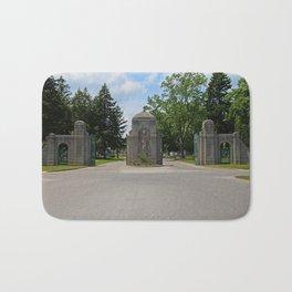 Calvary Cemetery Gate I Bath Mat