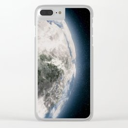 The Earth from space showing all they beauty. Clear iPhone Case