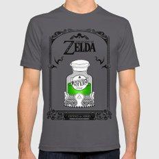 Zelda legend - Green potion  SMALL Asphalt Mens Fitted Tee