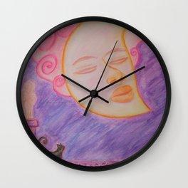 Moon and cat Wall Clock