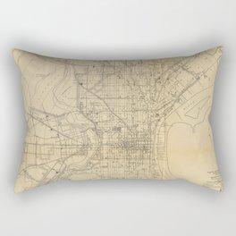 Vintage Philadelphia Railroad Map (1911) Rectangular Pillow