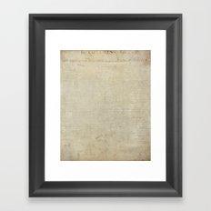 United States Declaration of Independence - Original Engrossed Version Framed Art Print