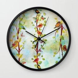 Spring Arrivals Wall Clock