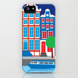 Amsterdam, Netherlands - Skyline Illustration by Loose Petals iPhone Case