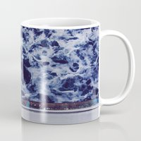 indonesia Mugs featuring Waves in Indonesia by Suzanne Trooster