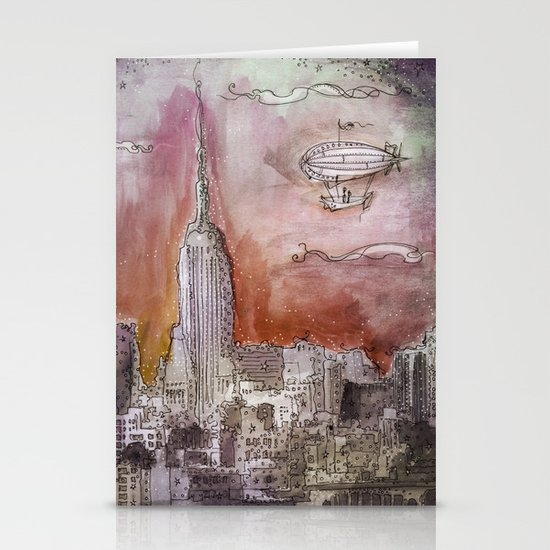 Boat over the City Stationery Cards