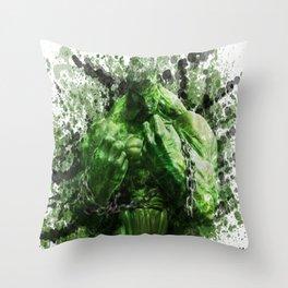 Green Hero Throw Pillow