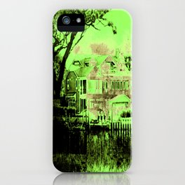 Green Spooky Boathouse iPhone Case
