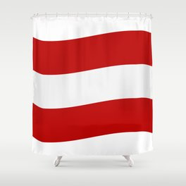 flag of austria Shower Curtain