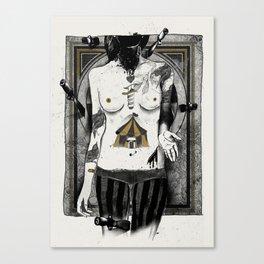Target girl Canvas Print