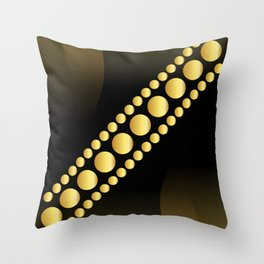 Golden dotes on black background #society6 #decor #buyart #artprint Throw Pillow