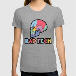 Rad Tech Color Skull Radiology Skeleton T-shirt