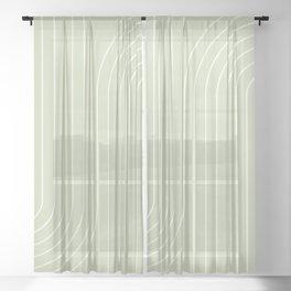 Minimal Line Curvature XXII Sheer Curtain
