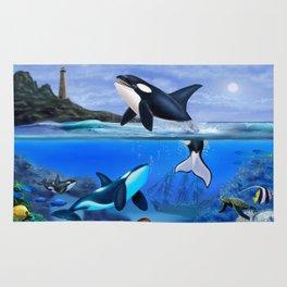 THE ORCA FAMILY Rug