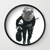 scuba Wall Clocks featuring Scuba Diver by Jentfah