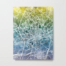 Frankfurt Germany City Map Metal Print