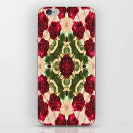 Old Red Rose Kaleidoscope 6 iPhone Skin