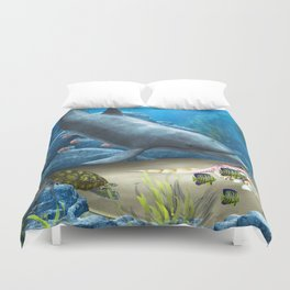The World Of The Dolphin Duvet Cover