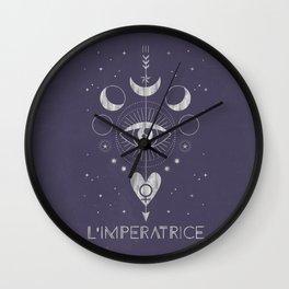 L'Imperatrice or L'Empress Tarot Wall Clock