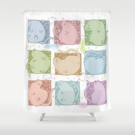 Blobby Cats Shower Curtain