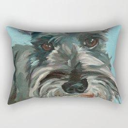 Schnauzer Dog Portrait Rectangular Pillow
